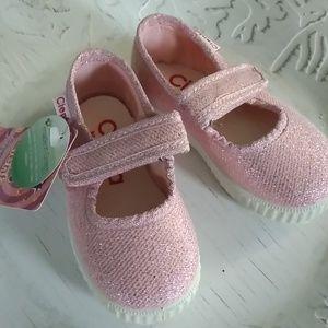 NEW Cienta Pink Sparkle Infant Sneakers Sz 20